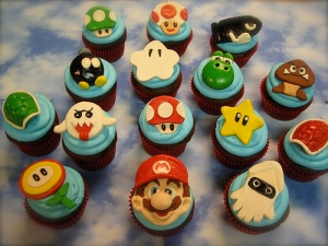 Nintendo-themed cupcakes by Goard